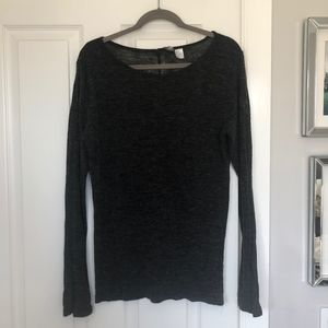 Oversized Heathered Gray Sweater